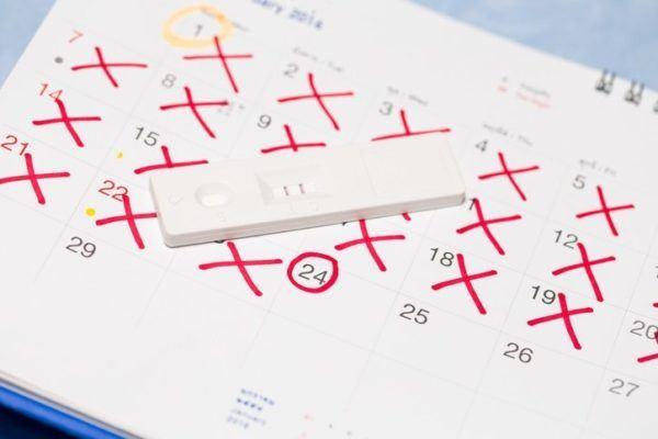 Calendario de fertilidad marcado
