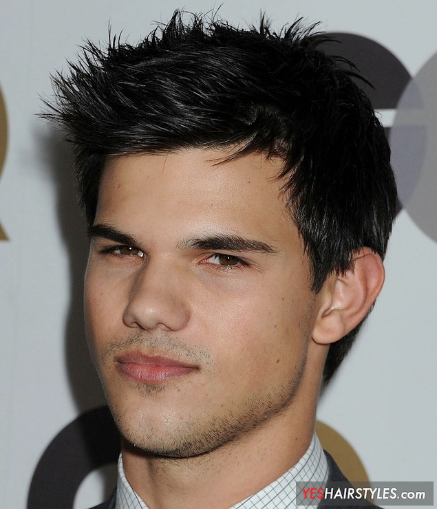 taylor-lautner-black-and-silver-spiky-hair