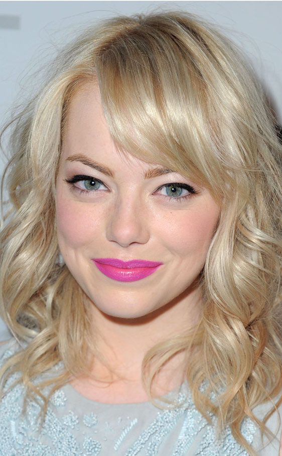emma stone flequillo lateral