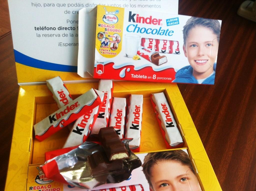 Kinder chocolate-actividad extraescolar