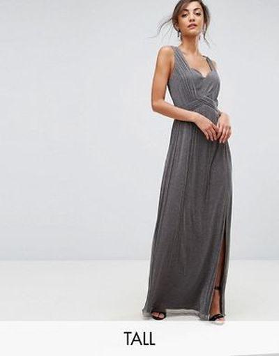 los-vestidos-para-graduacion-maxi-de-punto-metalizado-con-detalle-cruzado-de-little-mistress-tall