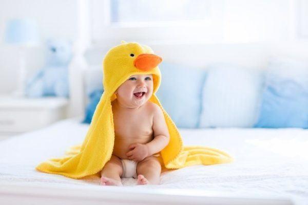 Nombres raros para bebes toalla pato