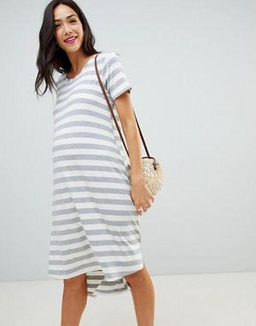 878ee28ca ropa-premama-vestido-asos-verano-holgado-rayas-bluebelle-