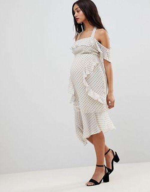ropa-premama-vestido-asos-verano-tubo-lunares-blanco-negro-design