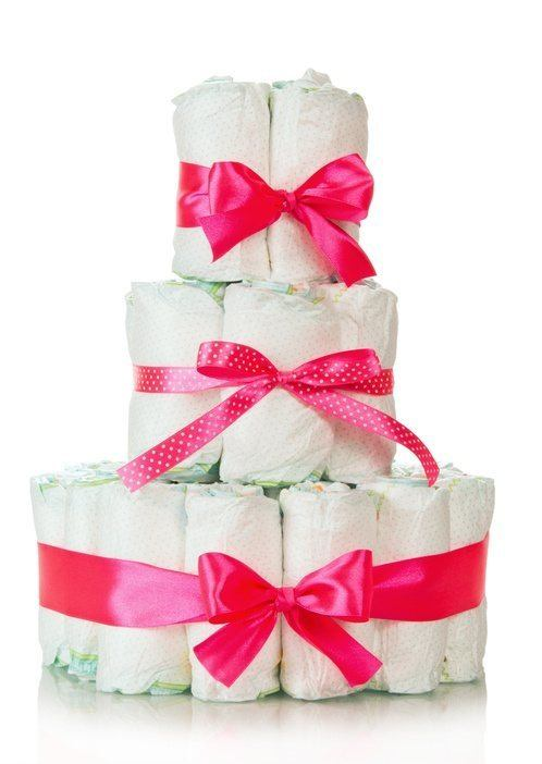 Tarta de panales lazos rosas