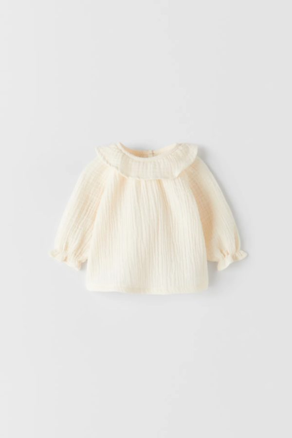Catalogo zara kids bebes blusa volantes