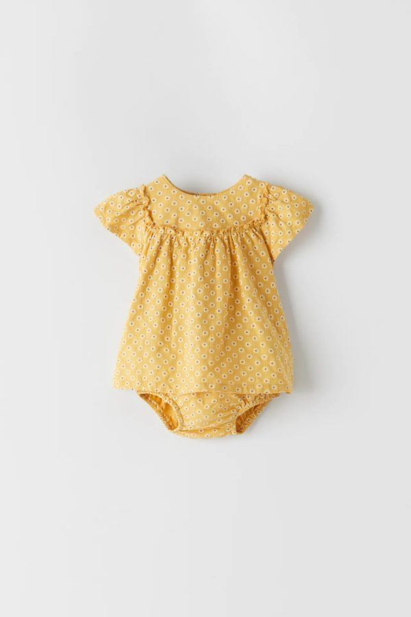Catalogo zara kids bebes vestido pelele margaritas