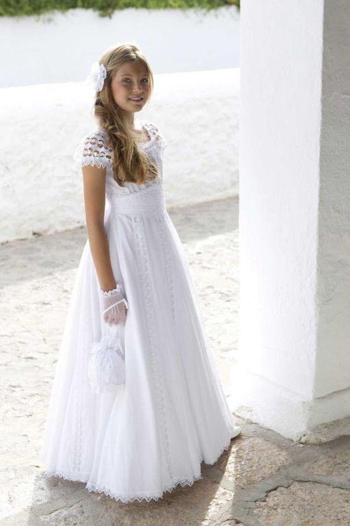 Vestidos de primera comunion corte princesa