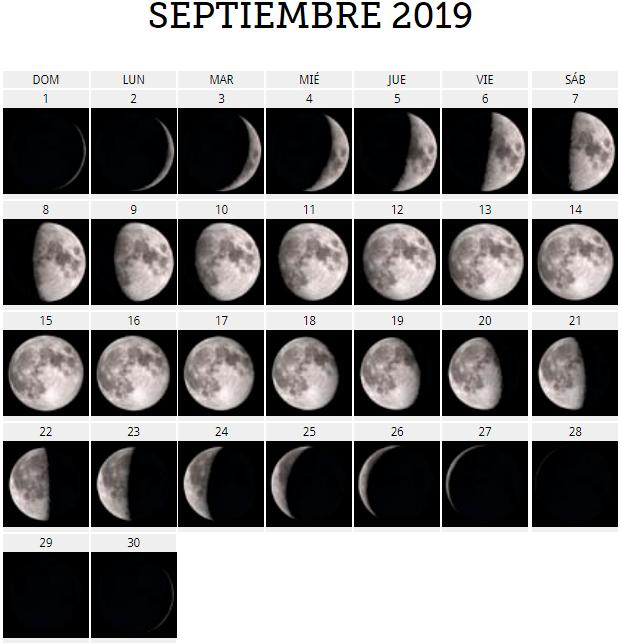 Calendario Lunar 2019 Espana.Calendario Lunar 2019 Para Quedarse Embarazada Las Fases Lunares