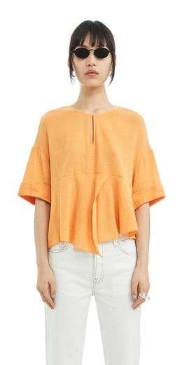 rebajas-bimba-y-lola-blusa-volantes-naranja