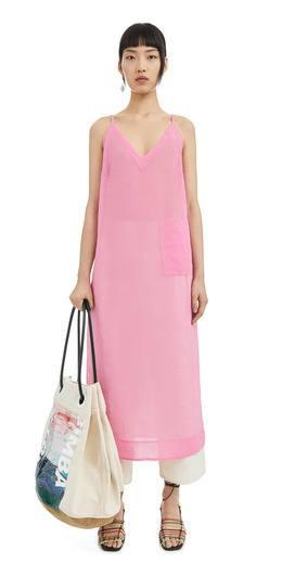 rebajas-bimba-y-lola-vestido-semi-transparente-rosa