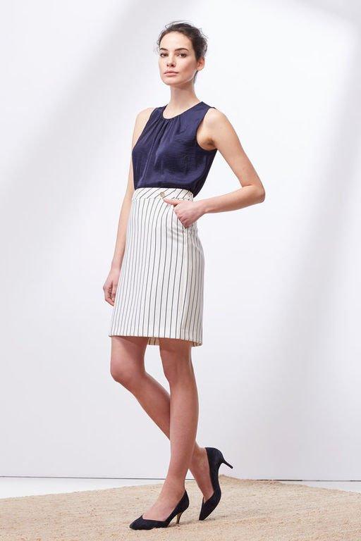 rebajas-cortefiel-faldas-rayas
