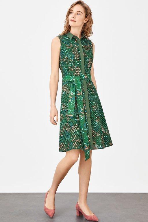 rebajas-cortefiel-vestido-camisero-verde