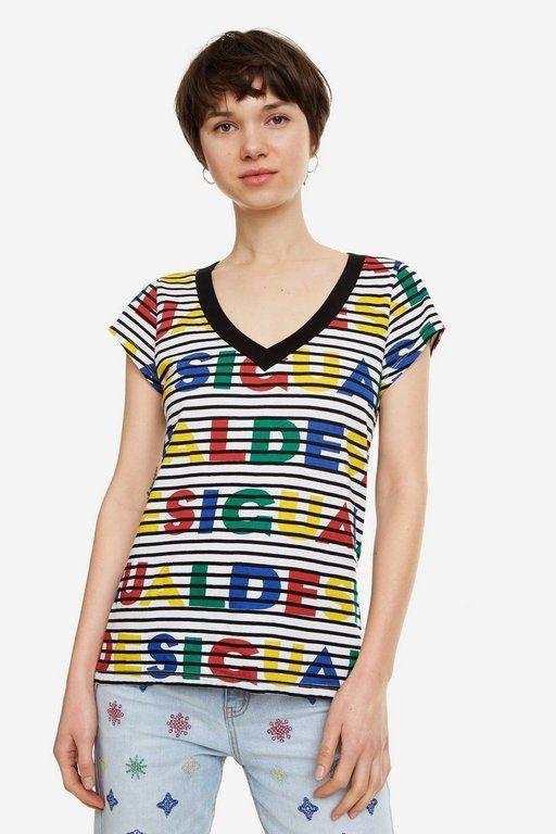 rebajas-desigual-camiseta-logos-rayas-desgl