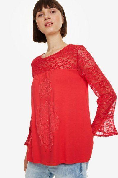 rebajas-desigual-camiseta-roja-emcaje