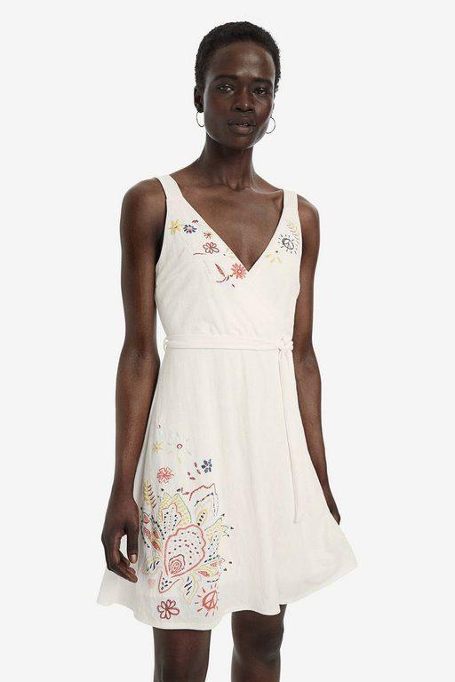 rebajas-desigual-vestido-evase-escote-cruzado-blanco