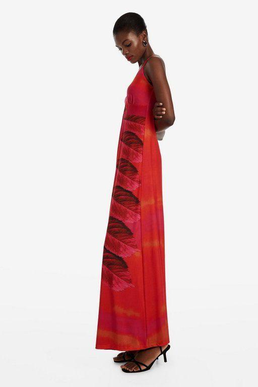 rebajas-desigual-vestido-rojo-falda-larga-marcela