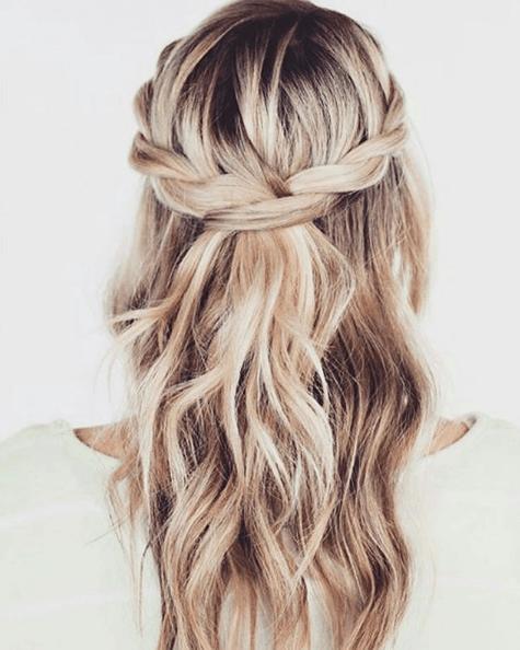 Peinados 2014 tendencia trenzas semirecogido
