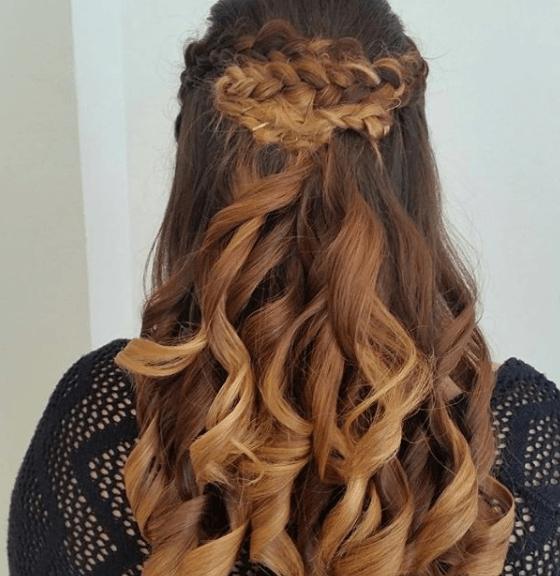Peinados 2014 tendencia trenzas semirecogido largo