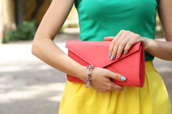 Color rosa y verde