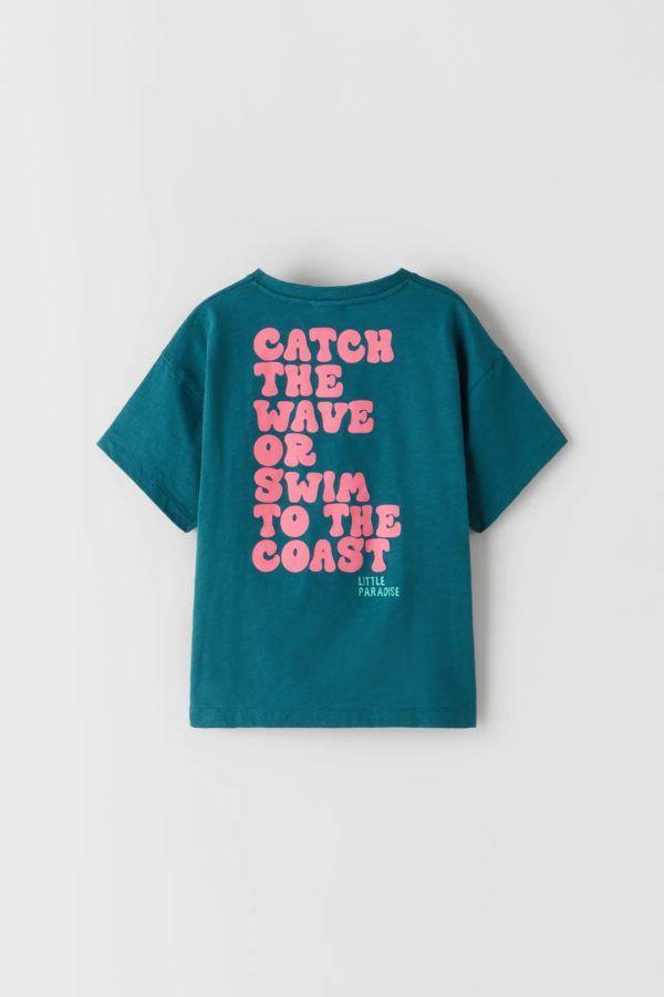 Catalogo zara kids camiseta letras
