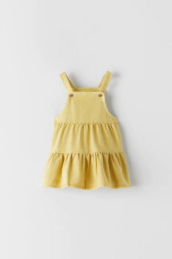 Catalogo zara kids vestido amarillo