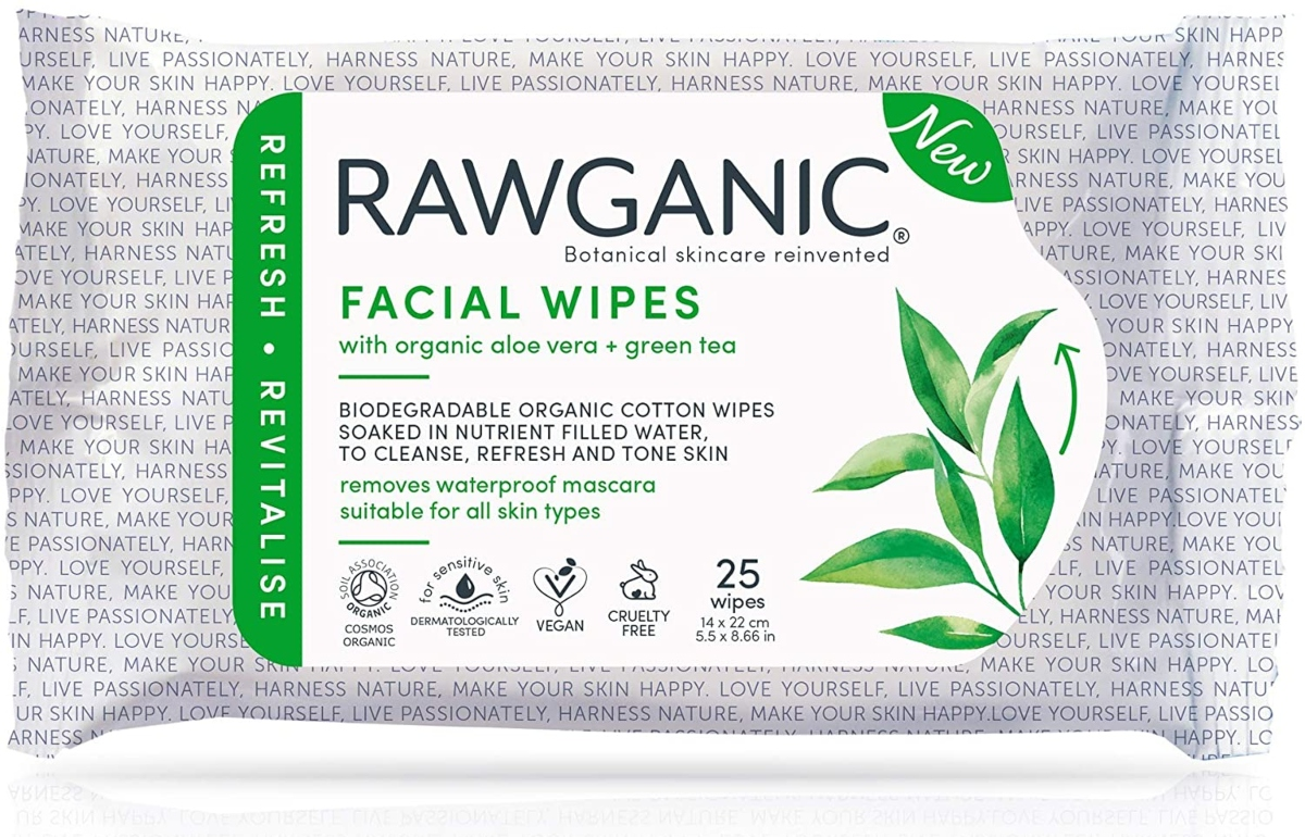 toallitas faciales rawganic