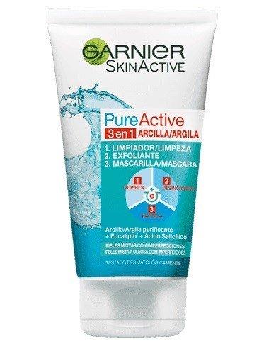 exfoliante facial garnier pure active