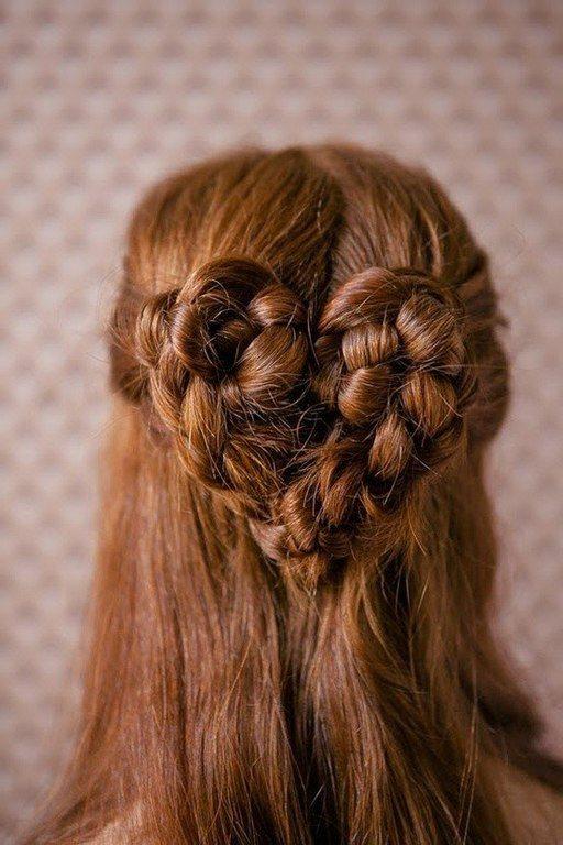 Peinado corazón