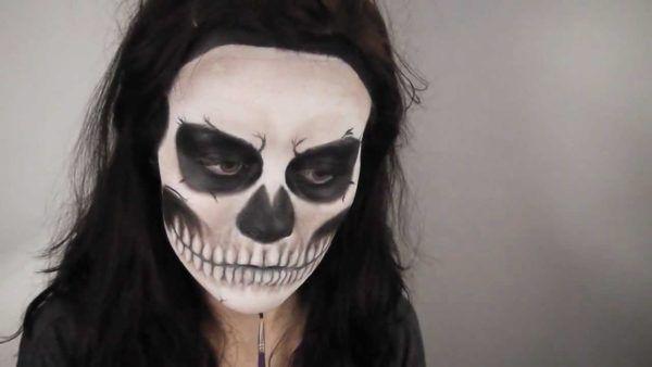 como-maquillarse-para-halloween-2015-maquillaje-de-calavera