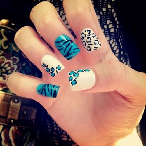 fotos-de-decoracion-de-unas-2016-animal-print-azul