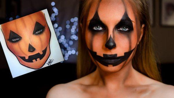 maquillaje-halloween-2015-calabaza-con-forma-de-calabaza
