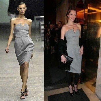 Audrey con el citado vestido